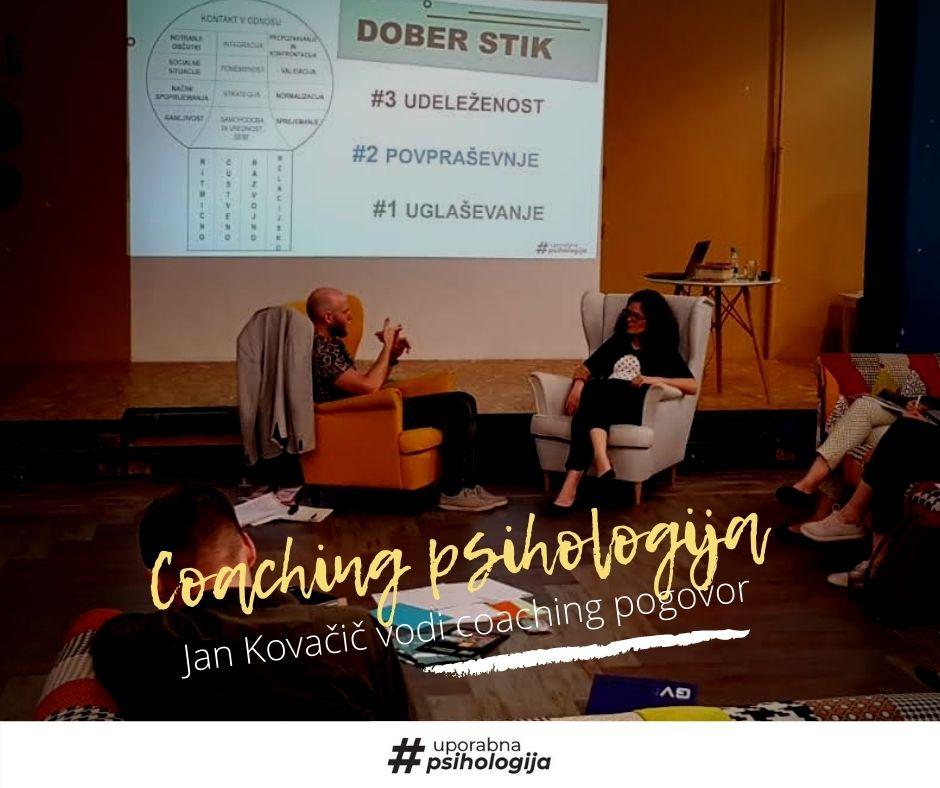 Jan Kovačič_vodi pogovor z modelom coaching psihologija_Uporabna psihologija