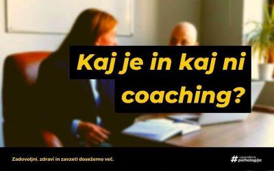 Kaj je coaching in kaj ni coaching?